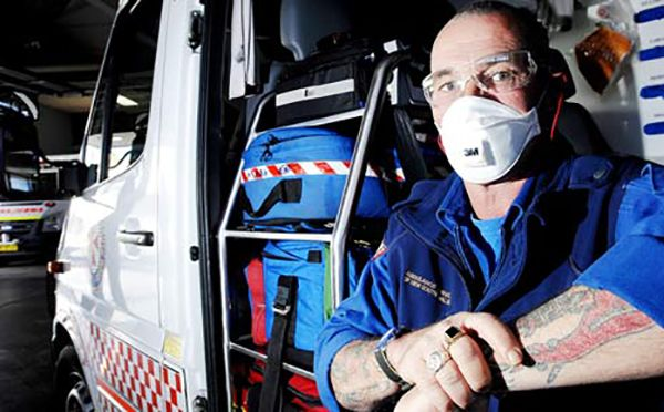 ems job stinks, surgical mask paramedic