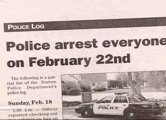 police arrest everyone