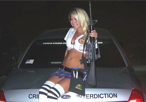 badge bunny. police
