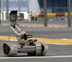 30 compact 'Packbots' will be supplied to the Brazilian government for the 2013 World Cup. (Photo courtesy iRobot.com)