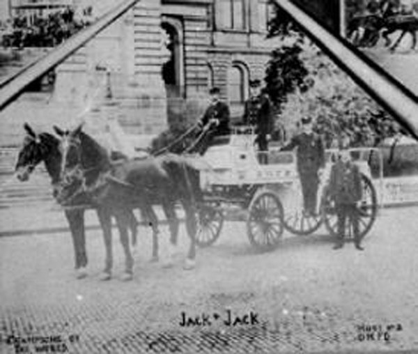Jack and Jack answered the call of duty on a daily basis by racing Des Moines firefighters to battle blazes. (Photo/City of Des Moines)