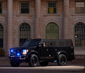 Armored rescue vehicles provide a huge measure of peace of mind for officers who arrive on a scene and may not know exactly what they are getting into. (Photo courtesy Lenco Industries, Inc.)