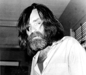 FILE - In this June 10, 1981 file photo, convicted murderer Charles Manson is photographed during an interview with television talk show host Tom Snyder in a medical facility in Vacaville, Calif. Authorities say Manson, cult leader and mastermind behind 1969 deaths of actress Sharon Tate and several others, died on Sunday, Nov. 19, 2017. He was 83.