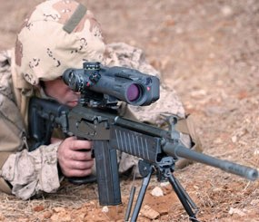 MEPRO MESLAS is a multi-function, fire-controlled sniper's riflescope 10x40 system. (Photo courtesy Meprolight)