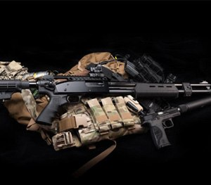 MIL-STD 1913 Picatinny rails for High-tube telescoping stock systems for Remington and Mossberg pump action shotguns. (Photo courtesy Mesa Tactical)