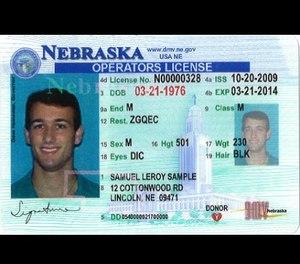 A current Nebraska driver's license. (Photo/Nebraska DMV)
