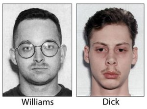 This undated, combination file photo shows Danial Williams, left, and Joseph Dick, who were serving life sentences in Virginia prisons. (The Virginian-Pilot via AP File)