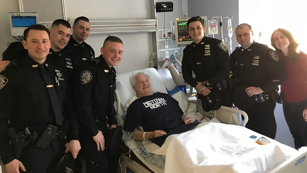 Police officers jumped into action to save Ron Gargalowitz, who went into cardiac arrest while on vacation. (Photo/NYPD)