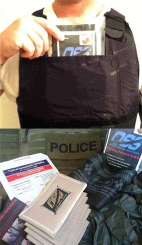 The Trauma Plate Pack and Patrol Pocket Pack are each designed to fit into any uniform pocket and behind the trauma plate of a vest so you'll never be with them. (Photo courtesy OSS)