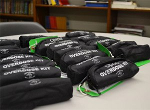 The opioid overdose kits contain a small vial of the drug naloxone, which is delivered through a nasal spray. The kits cost $50 each and were provided through the Tyler Yount Foundation and its partners, Heritage Behavioral Health, St. Mary's Hospital and Decatur Ambulance Services.