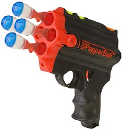 Photo Courtesy PepperBallDeviating from PepperBall's stock of carbine rifle launchers, the PepperBall SA-4 Launcher is a handheld, 4-shot launcher meant to provide mobility in addition to hot pepper's effectiveness in establishing compliance.