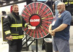 Globe Turnout Gear raised and donated $25,000 for the Terry Farrell Firefighters Fund at FDIC 2017 (Photo/Globe Turnout Gear)