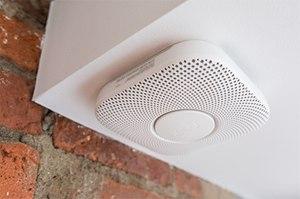 Nest Protect smoke and carbon monoxide alarm.