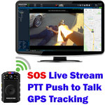 4G Body Camera with SOS Life Saving Feature, Live Stream, Real-Time Tracking, Push to Talk