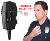 DUAL PTT Body Microphone for Mission Critical Communications
