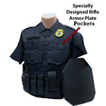 Custom Load Bearing Vest w/ Level 4 Rifle Plate Pockets, Class A Appearance