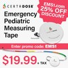 Emergency Pediatric Measuring Tape - 25% OFF