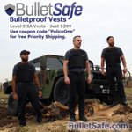 Free Priority Shipping on BulletSafe Bulletproof vests - Level IIIA for $299 - Use Coupon Code: PoliceOne