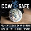 National Police Week Special: CCW Safe Offers 15% Off HR218 Plan