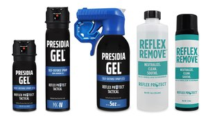 Now there is a new less-lethal option for an officer's tool belt. Presidia Gel can be safely deployed indoors or in close quarters without contamination, and its antidote, Reflex Remove, provides a fast-acting decontaminant.