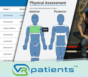 With VRpatients, instructors can create realistic clinical scenarios from scratch, and they can teach their agency's policies and procedures. (image/VRpatients)