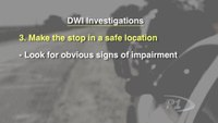 DWI Investigations