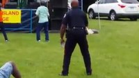 Canada cop busts a move at jazz festival
