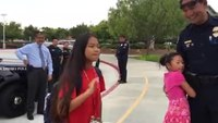 San Diego Police escort fallen officer's daughter to school
