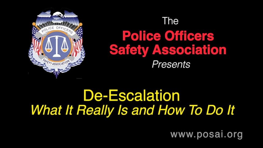De-Escalation: What is really is and how to do it