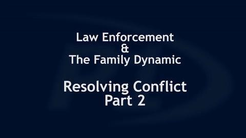 The mechanisms of conflict resolution