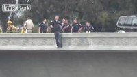 Calif. police rescue suicidal man from overpass
