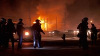 P1 cam crew captures barrage of gunfire during Ferguson riots