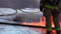 How to attack a semitrailer truck fire