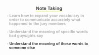 Report Writing: Note Taking