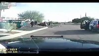 Armed man on crime spree rammed by Ariz. cop's squad