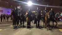 Houston Mounted officers, horses line dance during Super Bowl patrol
