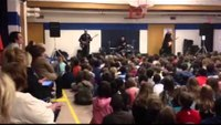 Detroit 'Blue Pigs' hold concert at elementary school