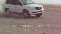 International Armored Group (IAG) armored car test of B6 Toyota Landcruiser 200