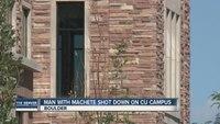 Police kill machete wielding suspect at Colo. college