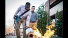 Students invent device using sound waves to put out fire