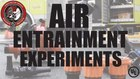 UL research experiment on air entrainment