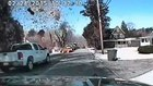 Dash cam: Gas leak leads to fiery house explosion