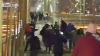 NYPD hunts for 6 protesters after cop's nose broken in melee