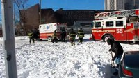 FDNY fire truck rescues ambulance