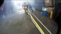 Helmet Cam: LAFD Titanium Explosion