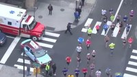 Ambulance on call halted by marathon runners