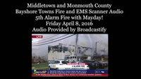 Keyport, NJ 5th fire Mayday