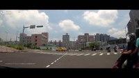 Dashcam: Taiwan ambulance runs red light, hits scooter