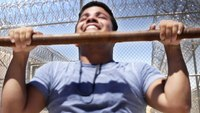 Men work out with Calif. inmates for a week