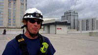 Va. firefighters practice tower rescue